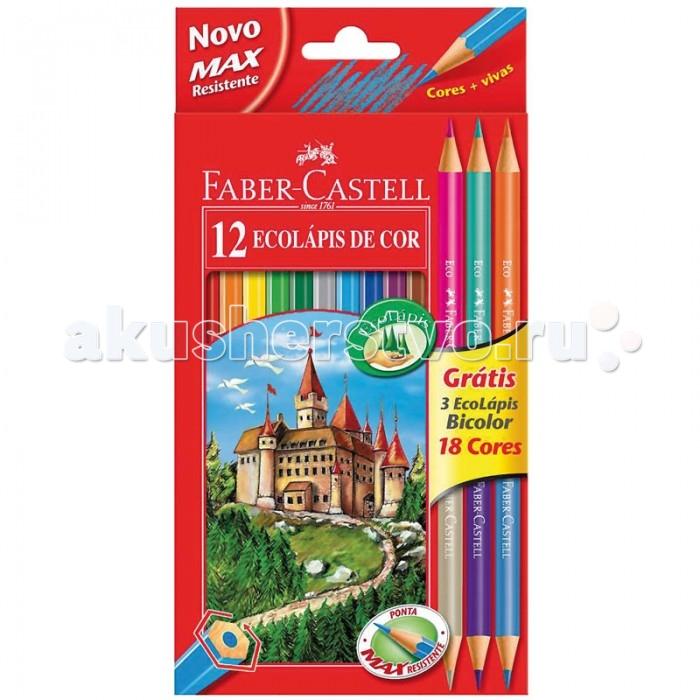 Карандаши, восковые мелки, пастель Faber-Castell Карандаши Eco 18 цветов карандаши faber castell набор цветных