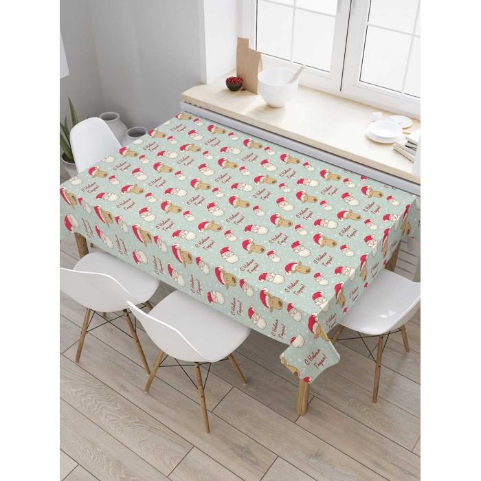 Товары для праздника JoyArty Скатерть на кухонный стол Большое поздравление 145x120 см недорого