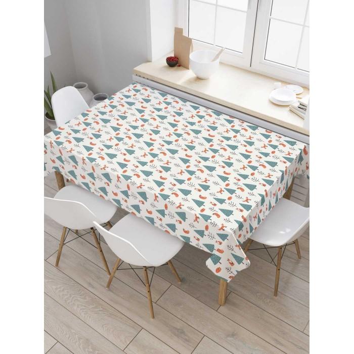 Товары для праздника JoyArty Скатерть на кухонный стол Лисицы в лесу 145x120 см недорого