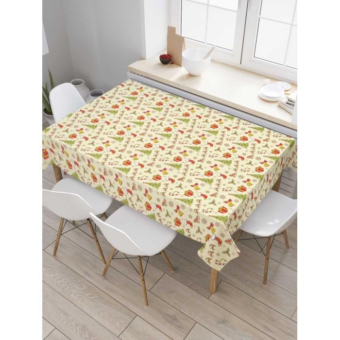Товары для праздника JoyArty Скатерть на кухонный стол Караван подарков 180x145 см недорого