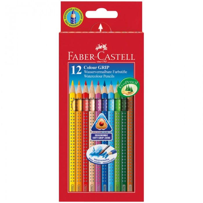 Карандаши, восковые мелки, пастель Faber-Castell Карандаши Grip 12 цветов цена и фото