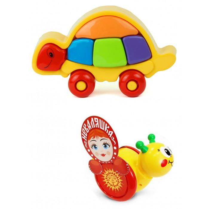 Купить Развивающие игрушки, Развивающая игрушка Тебе-Игрушка Каталка-неваляшка Улитка № 1 + Логическая черепашка