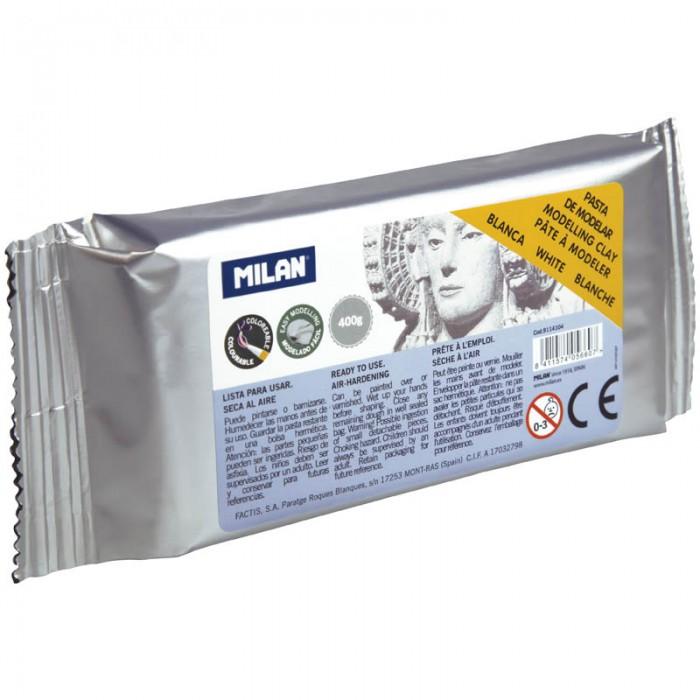 Всё для лепки Milan Глина для лепки белая 400 г вакуумированная paul klee paul klee