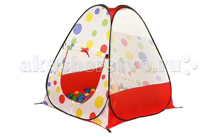 Calida Конус с шариками 96988Конус с шариками 96988Особенности: Стоит только извлечь ее из сумочки, как палатка сама разворачивается за счет каркаса-спирали; Пластиковые шарики разных ярких цветов свободно рассыпаются внутри палатки и не выкатываются наружу; Замечательно подходит для активных игр дома, так и на улице; Окна домика затянуты сеткой - воздуха и света будет предостаточно, а насекомые не потревожат играющих малышей.  Размеры: Диаметр шаров 7см; Размер палатки 104х98х100 см; Размер коробки 52х51х17 см.  В комплект входит: Палатка; 100 шаров.<br>