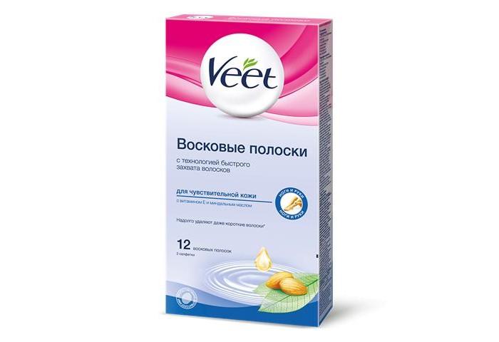 все цены на Косметика для мамы Veet Juicy Восковые полоски для депиляции чувствительной кожи 12 шт. 30 г онлайн