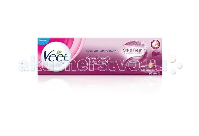 Косметика для мамы Veet Spa Крем для депиляции с ароматом бархатной розы и эфирными маслами 90 мл