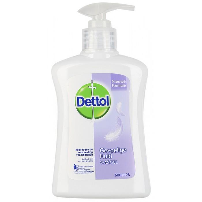 Косметика для мамы Dettol Для чувствительной кожи с глицерином Антибакт. жидкое мыло для рук 250 мл косметика для мамы sodasan жидкое мыло для чувствительной кожи 1000 мл