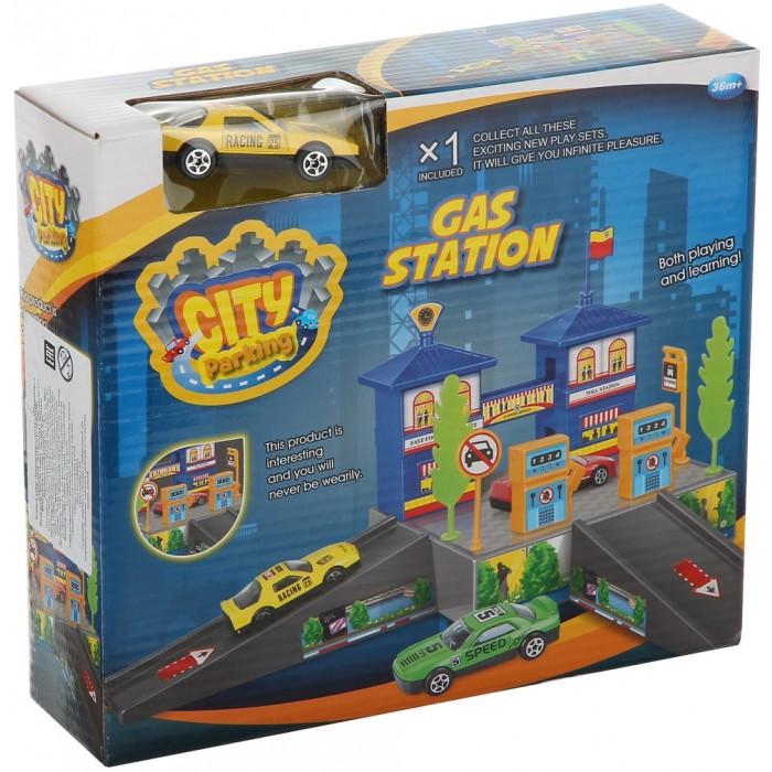 Машины Dave Toy Заправочная станция с 1 машинкой игровой набор dave toy пожарная станция с 1 машинкой