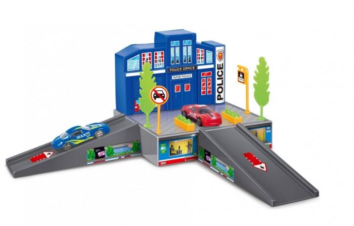 Машины Dave Toy Полицейский участок с 1 машинкой