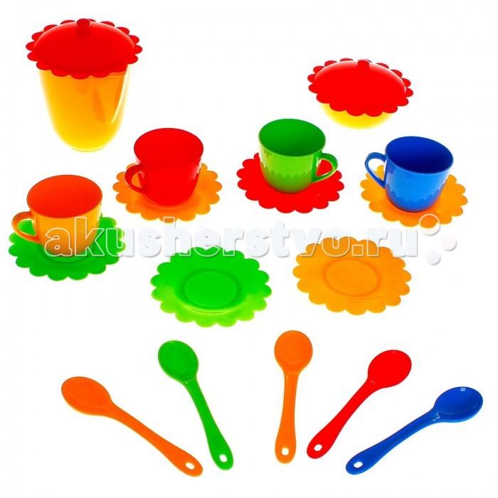 Кукольные домики и мебель Tigres Набор посуды Ромашка на 4 персоны (большой) конструкторы tigres tigres 39078 конструктор 60 элементов