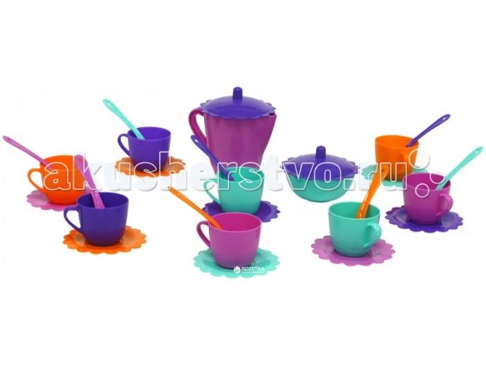 Фото - Кукольные домики и мебель Tigres Набор посуды Ромашка 28 элементов в сумке набор посуды тигрес ромашка 39121 красный желтый зеленый синий
