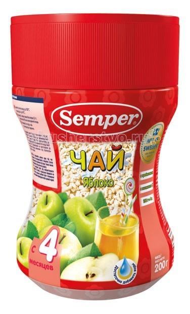 Чай Semper Детский чай Яблоко с 4 мес. 200 г semper сок semper сэмпер яблочный 200 г