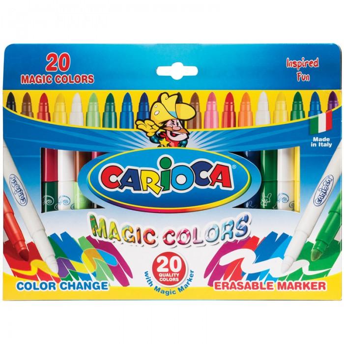 Фломастеры Carioca CambiaColor меняющие цвет 20 шт.