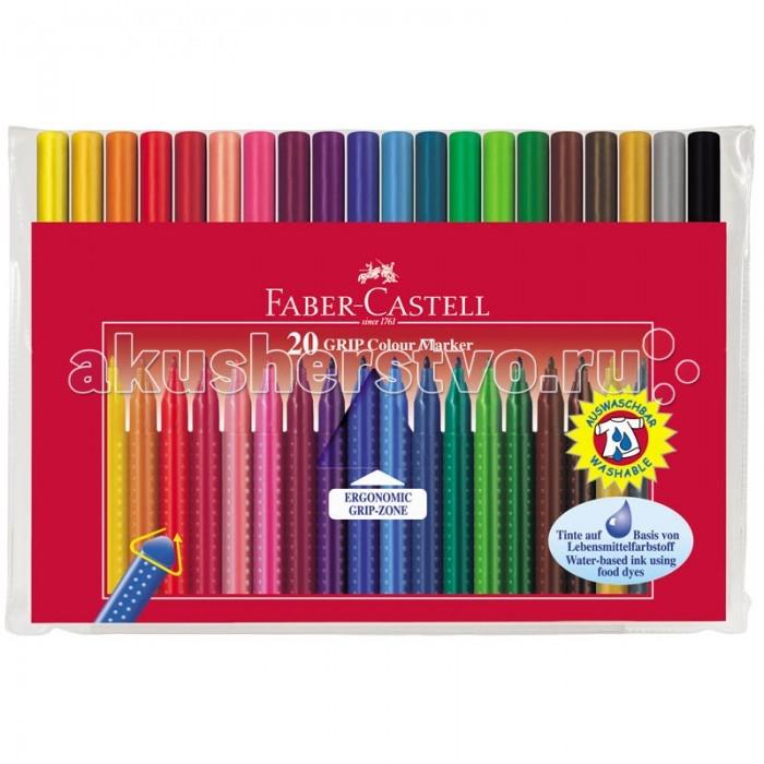 Картинка для Фломастеры Faber-Castell Grip 20 цветов
