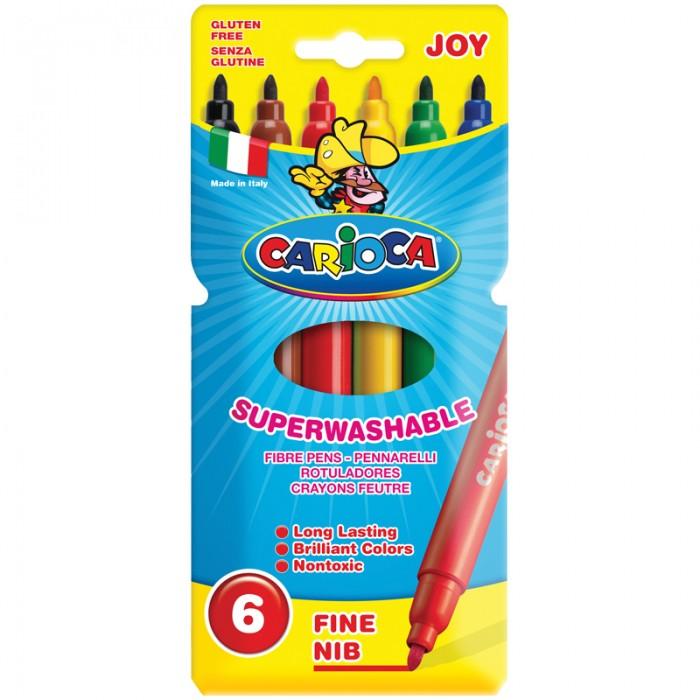 Фломастеры Carioca Joy 6 цветов маркеры и фломастеры carioca 3044806 фломастеры 6 цветов carioca joy 2 6 мм в картонном конверте