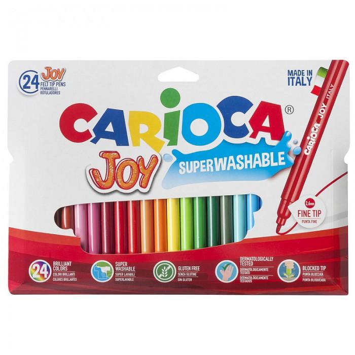 Фломастеры Carioca Joy 24 цвета в футляре фломастеры carioca joy 10 цветов в блистере
