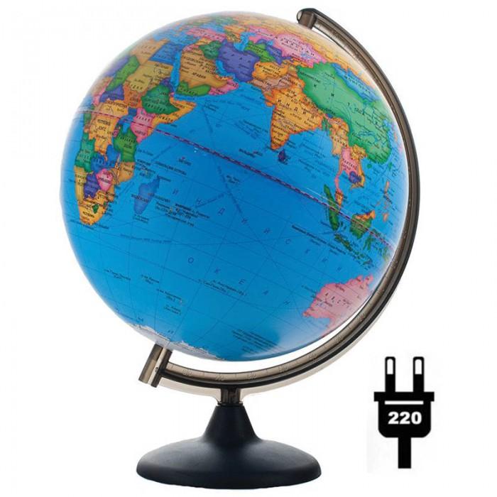 Развитие и школа , Глобусы Глобусный мир Глобус политический 32 см с подсветкой арт: 123575 -  Глобусы