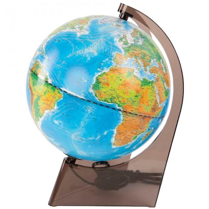 Глобусы Глобусный мир Глобус физико-политический 21 см с подсветкой, Глобусы - артикул:123587