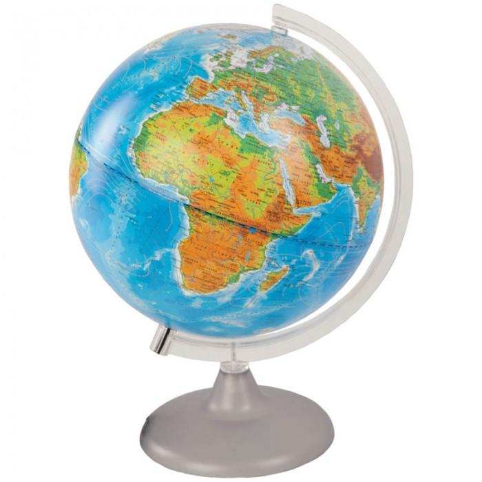 Глобусы Глобусный мир Глобус физико-политический 25 см с подсветкой