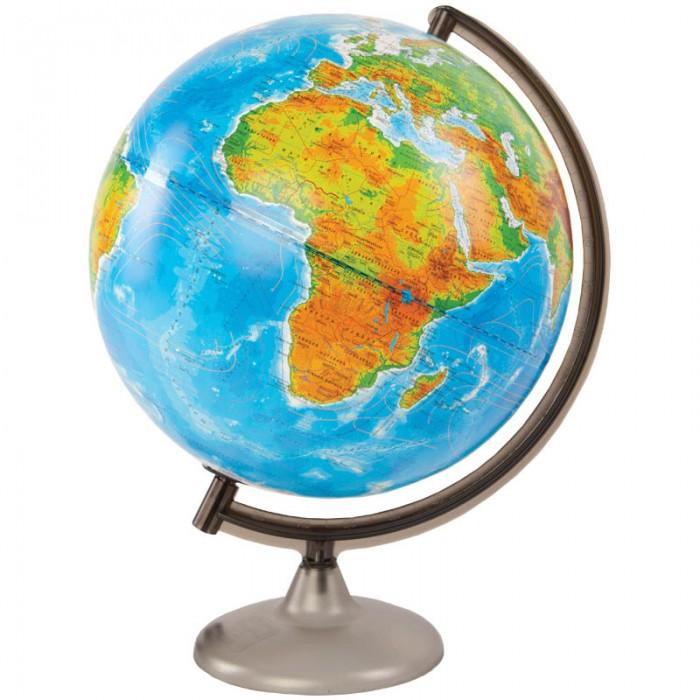 Развитие и школа , Глобусы Глобусный мир Глобус физико-политический 32 см с подсветкой арт: 123593 -  Глобусы