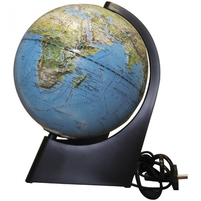 Глобусный мир Глобус физико-политический рельефный 21 см с подсветкой