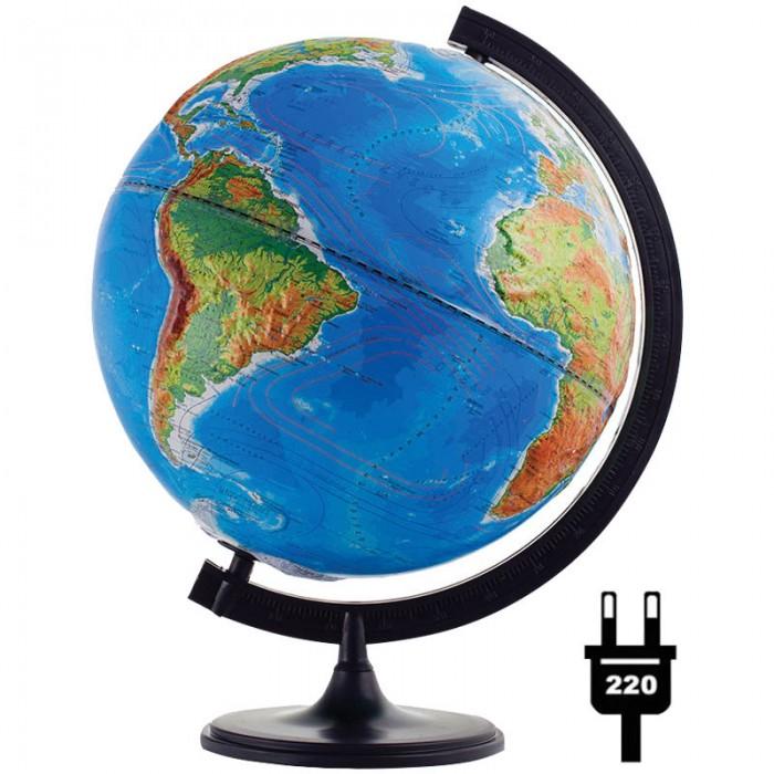 Развитие и школа , Глобусы Глобусный мир Глобус физико-политический рельефный 32 см с подсветкой арт: 123599 -  Глобусы