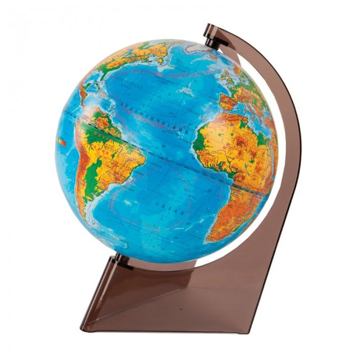 Глобусы Глобусный мир Глобус физический 21 см на треугольной подставке