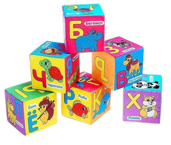 Развивающие игрушки Iq Zabiaka Мягкие кубики Учим алфавит