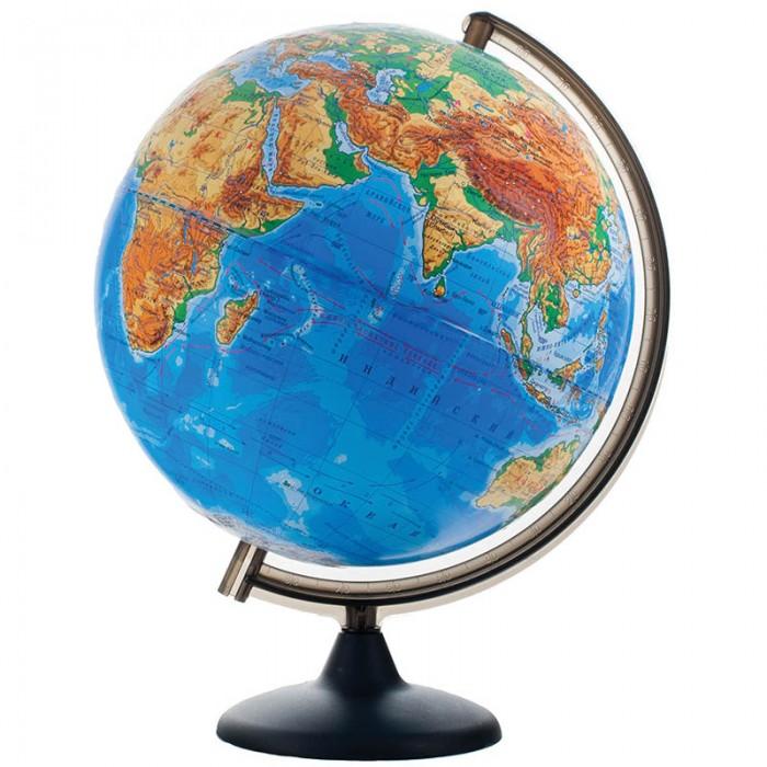 Глобусы Глобусный мир Глобус физический рельефный 32 см