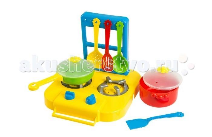 Фото - Ролевые игры Tigres Набор посуды столовый Ромашка с плиткой 7 элементов набор посуды тигрес ромашка 39121 красный желтый зеленый синий