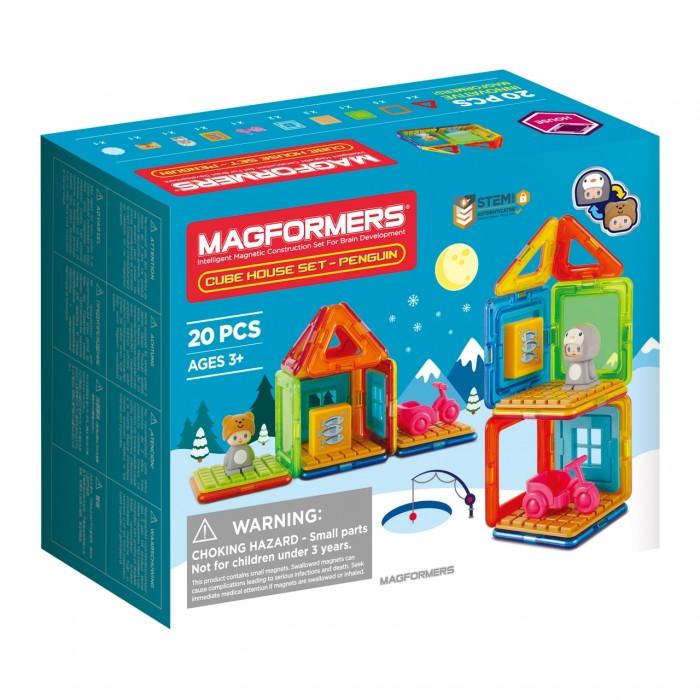 Конструкторы Magformers Магнитный Cube House Penguin (20 деталей) дополнительные детали magformers 713016 супертреугольники в коробке 12