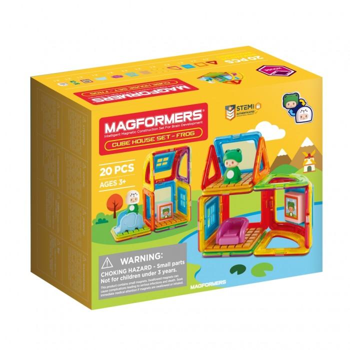 Конструкторы Magformers Магнитный Cube House Frog (20 деталей) дополнительные детали magformers 713016 супертреугольники в коробке 12