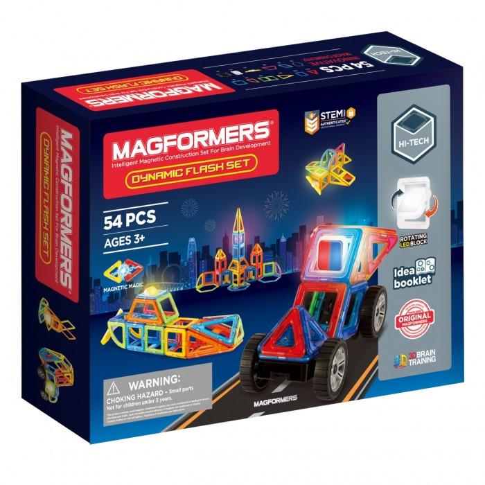 Конструкторы Magformers Магнитный Dynamic Flash Set (54 детали) дополнительные детали magformers 713016 супертреугольники в коробке 12