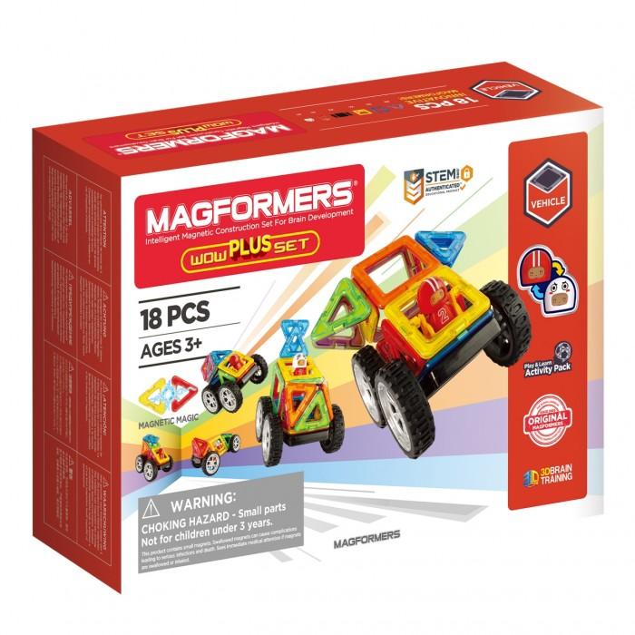 Конструкторы Magformers Магнитный Wow Plus Set (18 деталей) дополнительные детали magformers 713016 супертреугольники в коробке 12