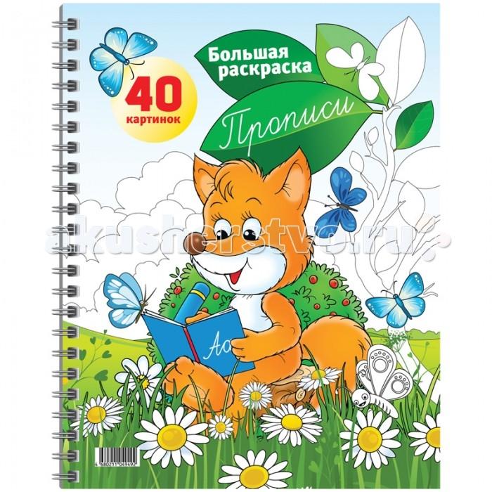 Раскраски Спейс Большая А4 на гребне Прописи 40 страниц раскраски спейс большая а4 весёлая техника 80 страниц склейка