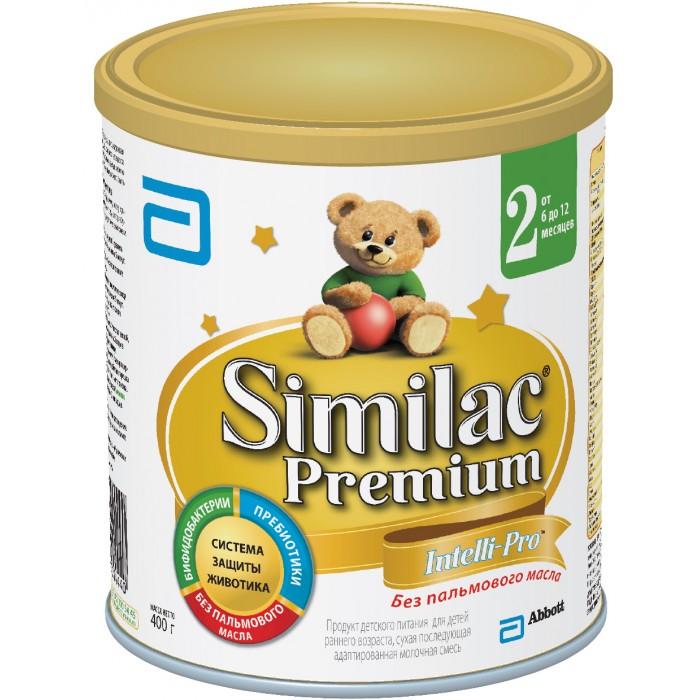 Молочные смеси Similac Молочная смесь 2 Premium 6-12 мес. 400 г similac смесь педиашур малоежка similac со вкусом банана 200 мл