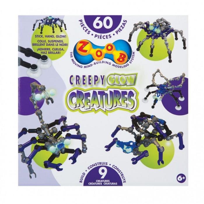 Конструкторы Zoob Glow Creepy Creatures 60 элементов конструктор zoob glow dinos 250 элементов 14004