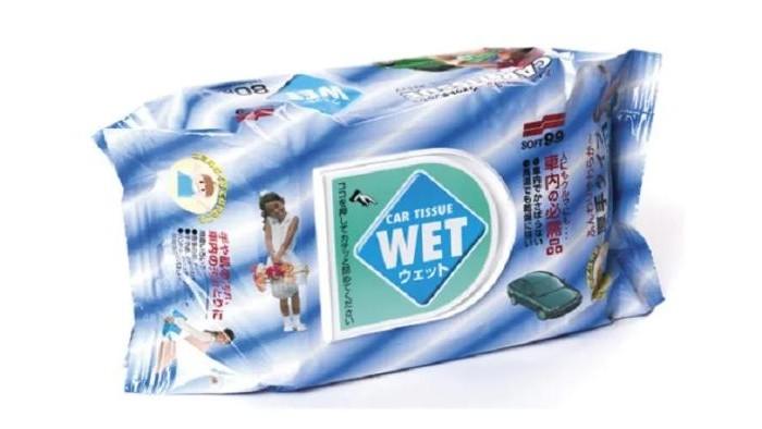 Аксессуары для автомобиля Soft99 Салфетки влажные универсальные Wet Tissue 80 шт.