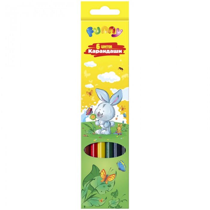 Карандаши, восковые мелки, пастель Спейс Карандаши Зверята 6 цветов карандаши восковые мелки пастель berlingo карандаши жил был кот 6 цветов