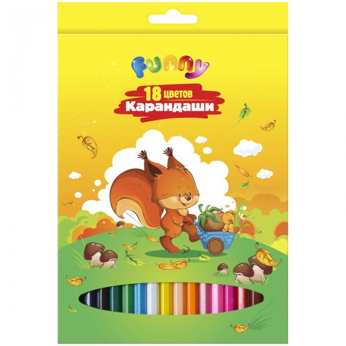 Карандаши, восковые мелки, пастель Спейс Карандаши Зверята 18 цветов карандаши