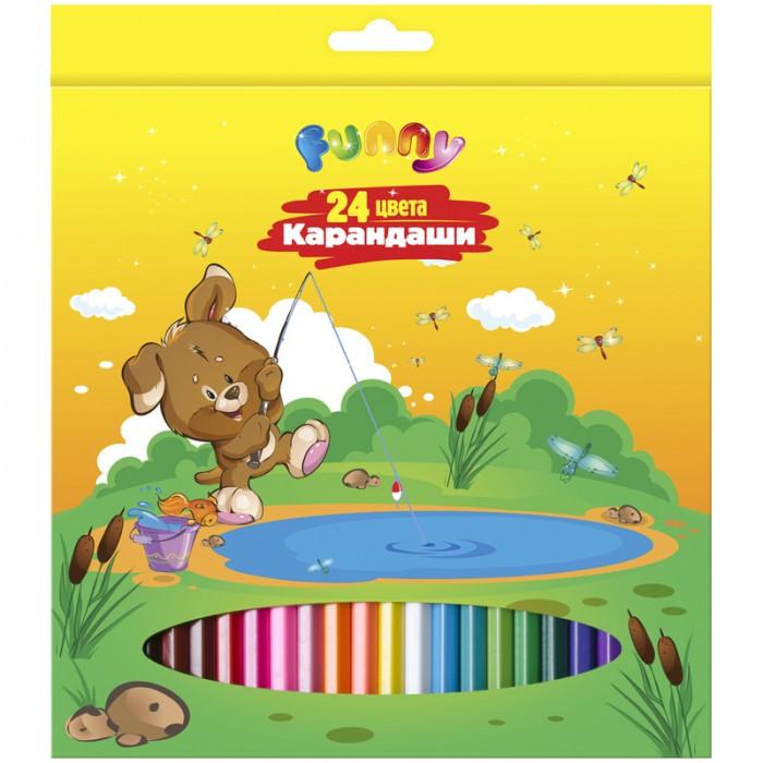 Карандаши, восковые мелки, пастель Спейс Карандаши Зверята 24 цвета карандаши