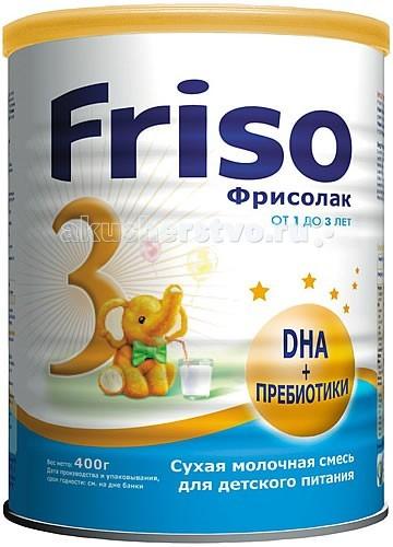 Молочные смеси Friso Молочная смесь Фрисолак 3 с 12 мес. 400 г молочная смесь friso фрисолак 2 с 6 мес 400 г