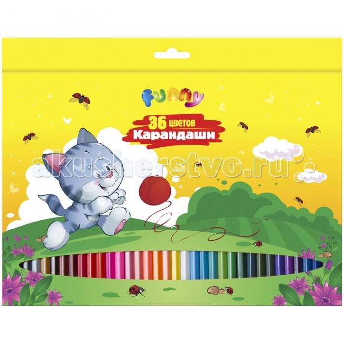 Карандаши, восковые мелки, пастель Спейс Карандаши Зверята 36 цветов карандаши
