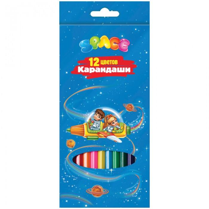 цена Карандаши, восковые мелки, пастель Спейс Карандаши Космонавты 12 цветов