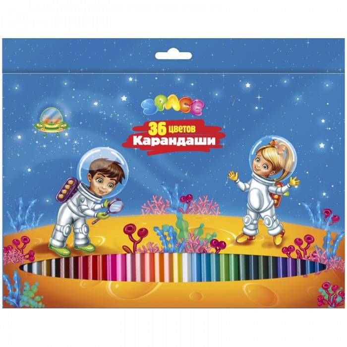 Карандаши, восковые мелки, пастель Спейс Карандаши Космонавты 36 цветов карандаши восковые мелки пастель kuso мелки восковые кирпичики 4 цвета
