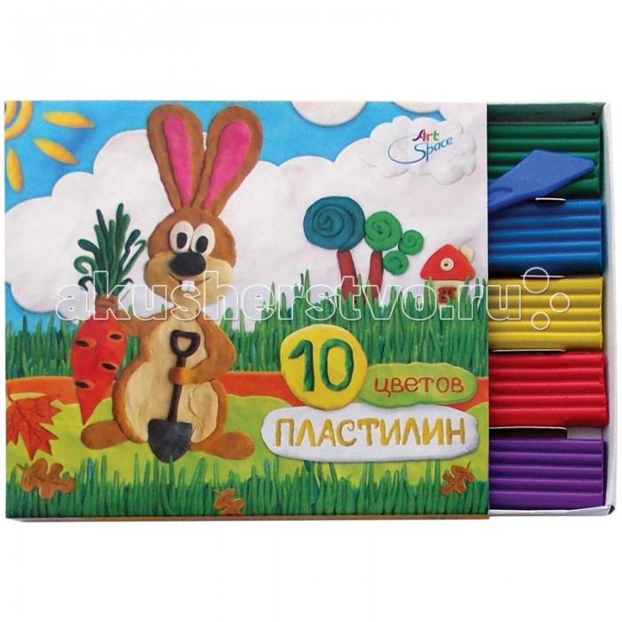Всё для лепки Спейс Пластилин ArtSpace 10 цветов пластилин детский классика 16 цветов 20с 1329 08