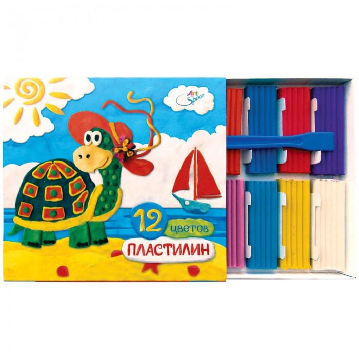 Всё для лепки Спейс Пластилин ArtSpace 12 цветов пластилин детский классика 16 цветов 20с 1329 08