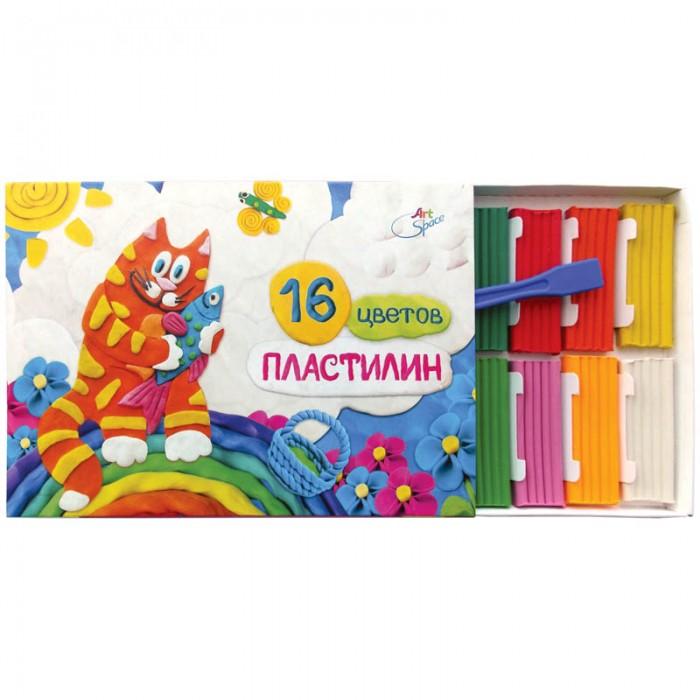 Всё для лепки Спейс Пластилин ArtSpace 16 цветов пластилин детский классика 16 цветов 20с 1329 08