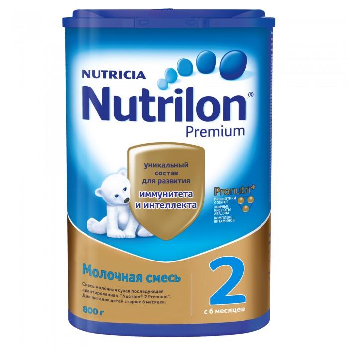 Молочные смеси Nutrilon Заменитель 2 пребиотики с 6 мес. 800 г картон молочные смеси nan заменитель кисломолочный 2 с 6 месяцев 400 г