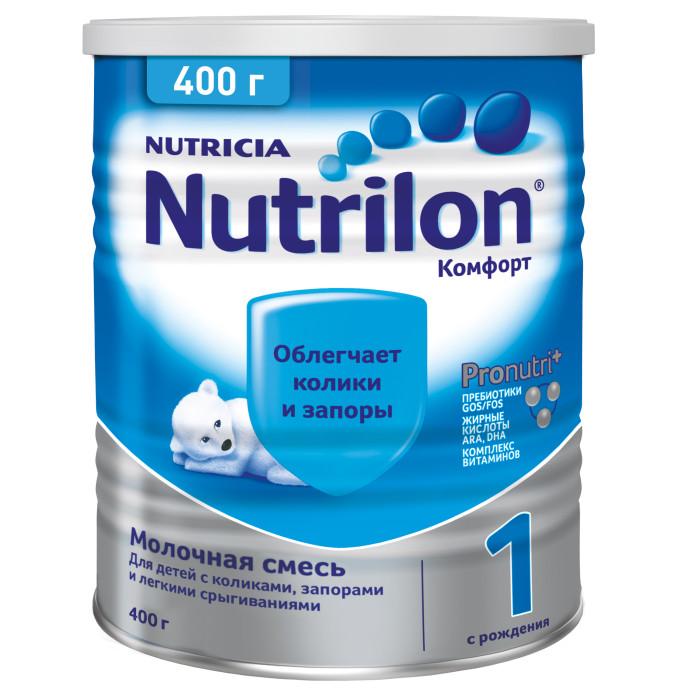 Молочные смеси Nutrilon Заменитель Комфорт 1 с рождения 400 г nutrilon 1 молочная смесь premium с рождения 400